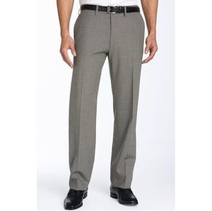 Hugo Boss Gray Cagan Flat Front Trouser Dress Pant